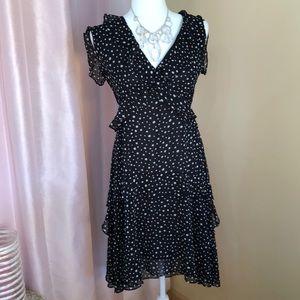 Max Studio NWT silky black and white dress!!